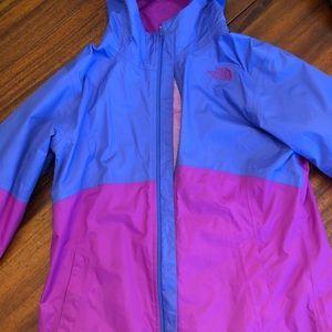 North Face color block rain coat